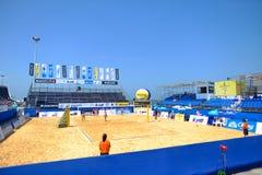 沙滩排球 库存照片