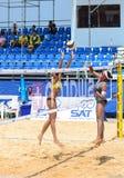沙滩排球 免版税库存图片