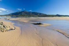沙洲水流量 免版税图库摄影