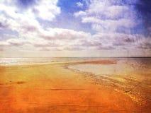 沙洲海滩 库存图片