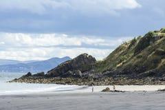 沙滩, Kinghorn,苏格兰- 1 免版税图库摄影