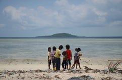 沙巴Bajau社区pala ` u 免版税库存照片
