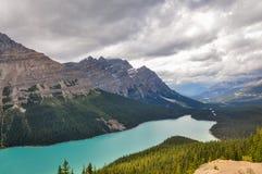 沛托湖-班夫国家公园,加拿大 免版税库存照片