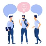 沟通在学院的年轻学生 库存例证