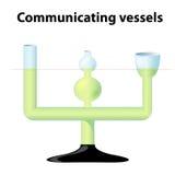 沟通的船的原则 库存例证