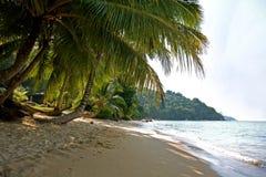 没人在Perhentian Kecil海岛的Petani海滩的在马来西亚 免版税库存图片