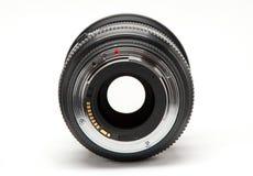 没有一台照相机的透镜在白色背景 免版税库存照片