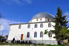 没有一座尖塔的清真寺Shishtavec自治市的,区Kukesh 库存图片
