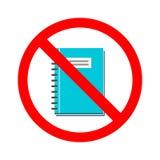 没有书的储蓄传染媒介 打开的书的禁止 唐` t读了一本书 库存照片