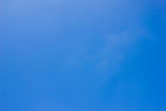 没有云彩的蓝天 空的天空 免版税库存照片