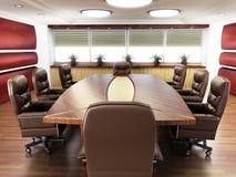 没有人的会议室 库存照片