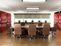 没有人的会议室 免版税图库摄影