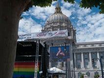 没有例外,旧金山自豪感周末的平等 库存图片