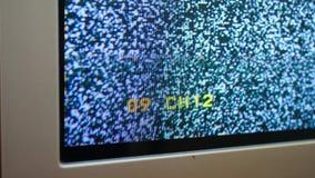 没有信号噪声的改变的电视频道 影视素材