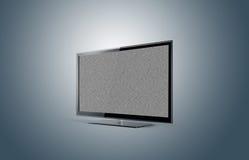 没有信号的现代电视等离子 免版税库存图片