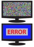 没有信号,没有数据,在显示器显示的崩溃屏幕 免版税库存照片