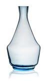 没有停止者的蓝色玻璃水瓶 免版税库存图片