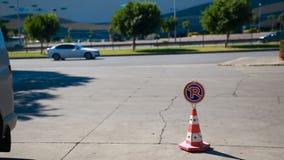 没有停车场,标志-禁止停放 影视素材