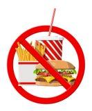 没有允许的快餐 图库摄影