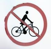没有允许的自行车 免版税库存图片