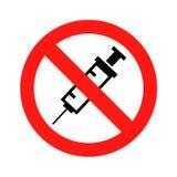 没有允许的药物 免版税库存图片