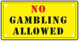 没有允许的赌博 库存例证