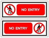 没有入口符号标志,传染媒介例证,在白色背景标签的孤立 EPS10 库存例证