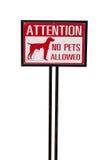 没有动物允许的标志 免版税库存图片