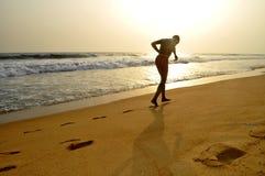 没有努力的体育在海滩 免版税库存图片