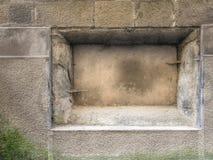 没有匾的墙壁 未玷污和被忘记的或者拷贝空间 图库摄影