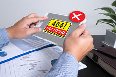 没有发现了404个错误失败警告问题 免版税库存图片