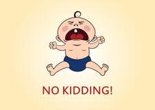 没有哄骗!叫喊的婴孩 免版税库存图片