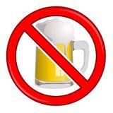 没有啤酒标志 免版税库存照片