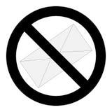 没有垃圾短信信件标志 免版税库存照片