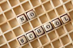 没有学校 免版税库存照片