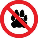 没有宠物符号 免版税库存照片