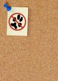 没有宠物警告 库存照片