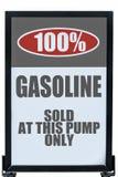 没有对氨基苯甲酸二标志的汽油 库存图片