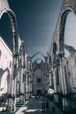 没有屋顶的大教堂 免版税库存照片