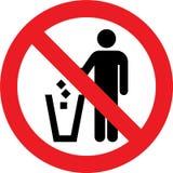 没有废弃物标志 免版税库存图片
