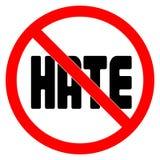 没有怨恨标志传染媒介例证 向量例证