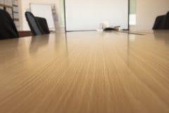 没有成员的被弄脏的会议室见面的 免版税库存照片