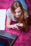 没有时刻的女孩的学会 免版税库存照片