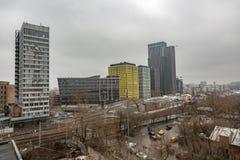 从没有机械化的面包店屋顶的看法  9在莫斯科,俄罗斯 库存图片
