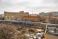 从没有机械化的面包店屋顶的看法  9在莫斯科,俄罗斯 库存照片