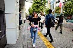 没有权利的日本少年女孩 免版税图库摄影