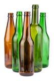 没有标签的空的瓶 免版税库存图片