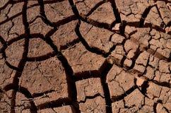 没有水的干燥和破裂的地面,沙漠区域,抽象全球性变暖背景 免版税图库摄影