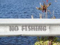 没有渔标志 免版税库存图片