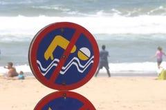 没有游泳 免版税库存图片